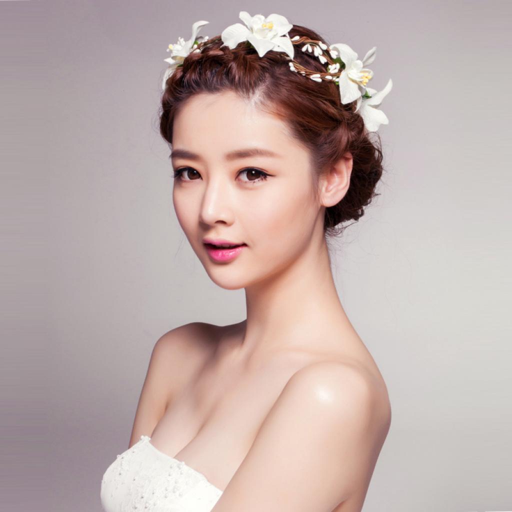森女花环 韩式伴娘新娘婚庆婚纱配饰品 头饰发箍