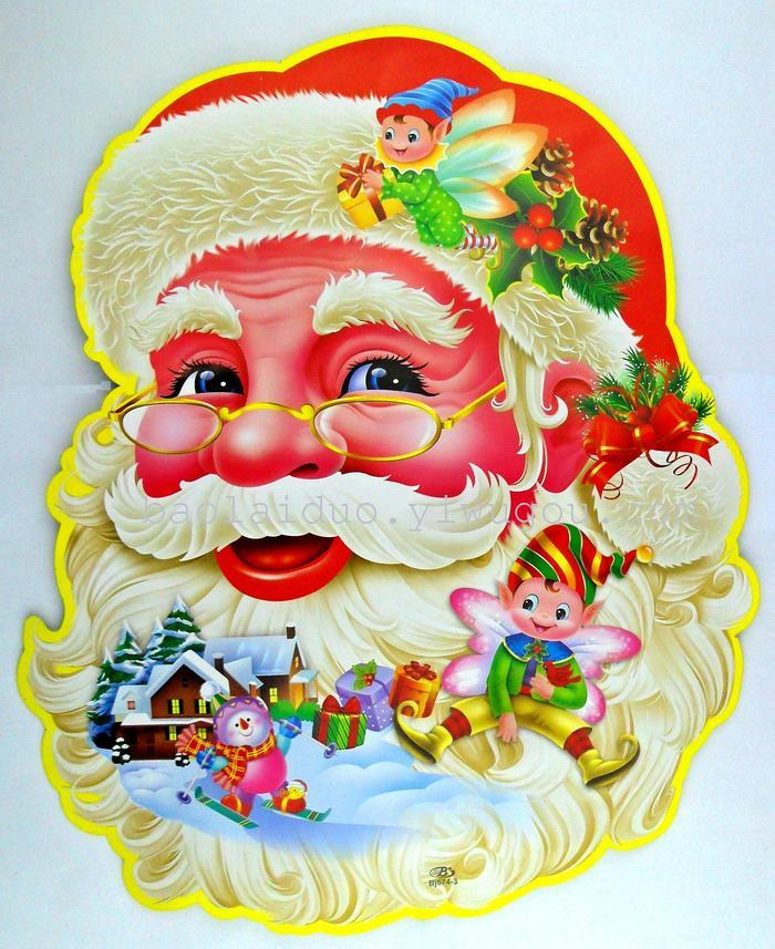 圣诞老人贴画