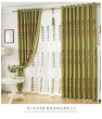 Korean garden light solid color padded cotton embroidered curtains bedroom children's room custom custom
