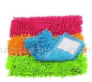 Manufacturers selling microfiber chenille flat plate mop head replacement cloth