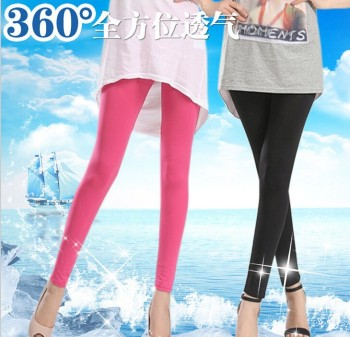 Summer new iced fruit color fashion super stretch silk leggings pants