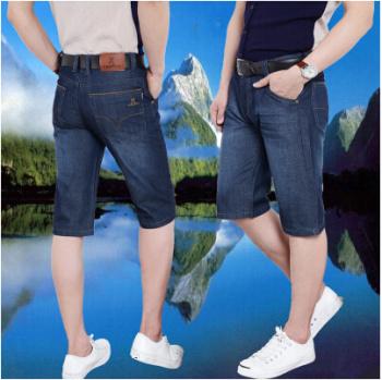 2016 Guangzhou new hot men jeans thin denim casual jeans short trousers.