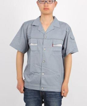 Summer short sleeve one-piece overalls auto repair clothing work clothing protective clothing