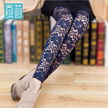 New feet pants lace pencil pants