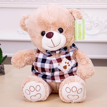 毛绒玩具可爱萌熊马甲熊抱抱熊创意公仔玩偶30cm