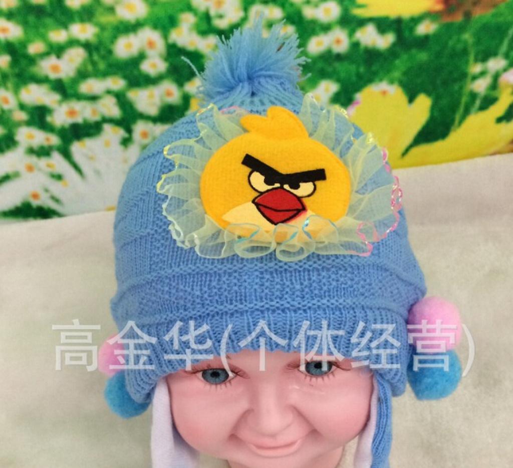 新款韩版儿童保暖毛线帽子