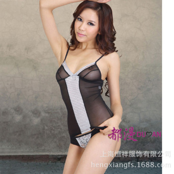 Two-piece bra sexy lingerie sexy nightdress uniform diffuse 6100