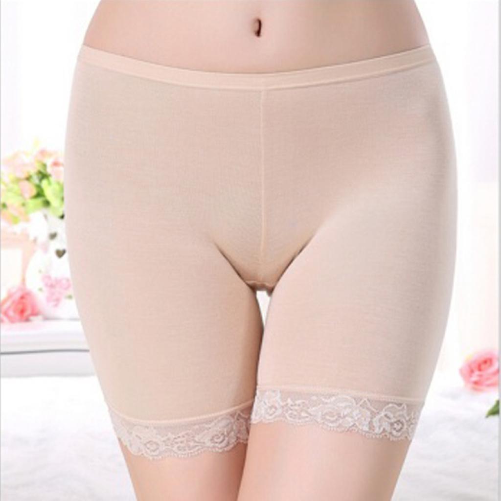 巨便宜女士防走光三分裤打底裤蕾丝边安全裤