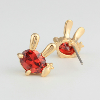 Factory direct new Korean jewelry Yiwu to delicate rabbit ear-Stud source