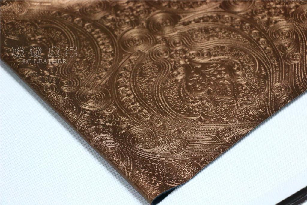 欧式花纹环保装饰革半pu人造革软包皮料阻燃皮革