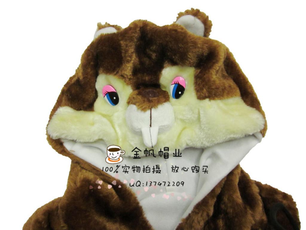 冬装儿童可爱马甲小孩衣服卡通松鼠背心坎肩动物造型亲子马夹
