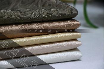 压花装饰革 环保阻燃革 硬包软包皮革 欧式移门皮革