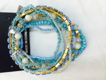Pop bracelet chain of acrylic glass measle catch