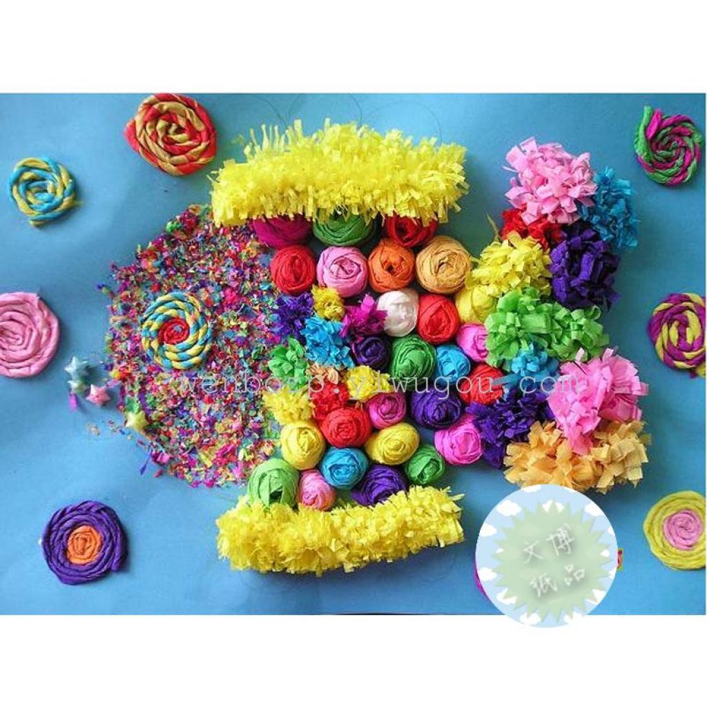 30米彩色纸绳粘贴画手工diy材料编织幼儿园儿童创意美