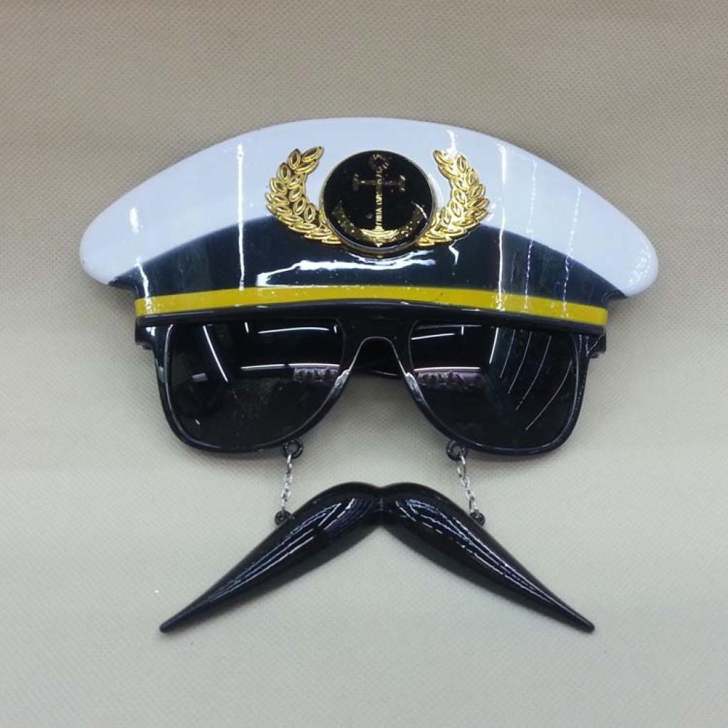 供应新款警察挂胡子眼镜