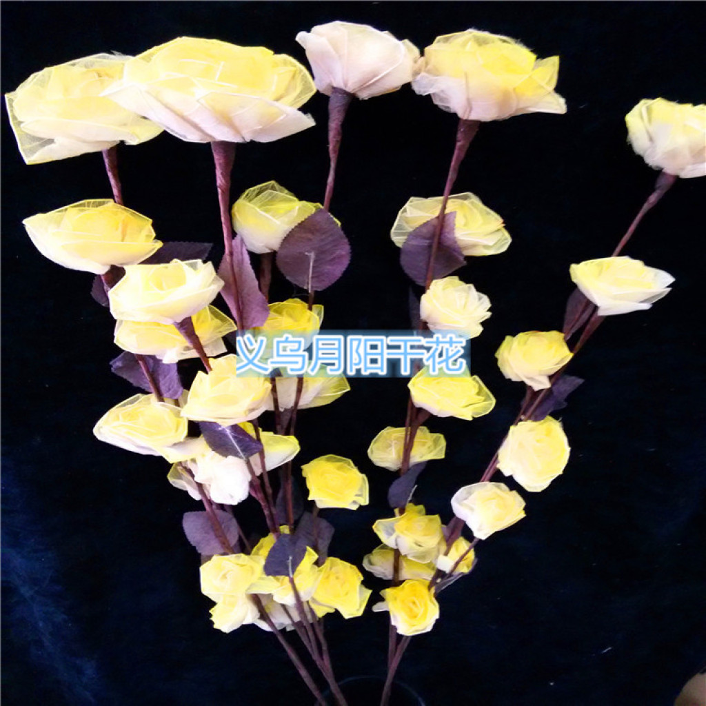 Supply Veins Take Plug In Accessories Long Yellow Flower Veins Rose