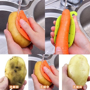 New strange fruit and vegetable brush fruit to refresh products kitchen gadgets wholesale