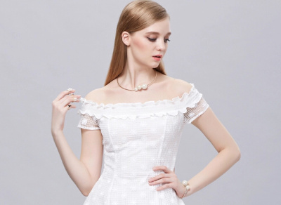 Full size Pearl Korean collar collar bone drill claw ring necklace chain bracelet