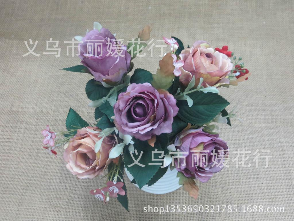 Supply 2015 New Small Artificial Flowers Flower Roses Wedding Home