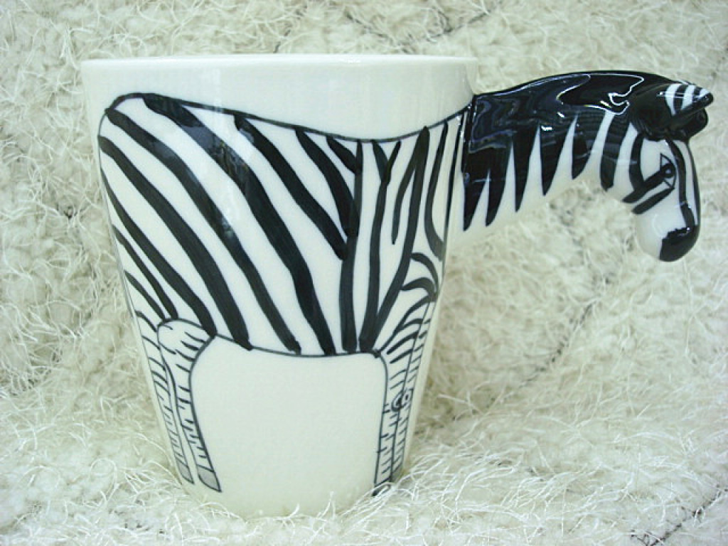 3d动物陶瓷杯 纯手绘创意杯