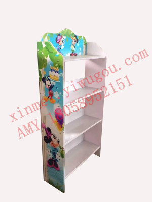 Factory direct cartoon children's learning toy shelf multi-purpose shelf the shelf supplies stationery