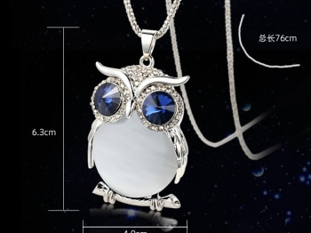 The OWL sweater chain long necklace