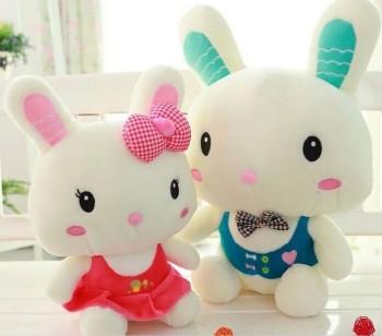 Dress wedding gift plush rabbit toy gifts for children caught doll