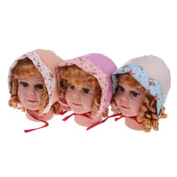 雪力娃公主帽包头帽婴儿帽儿童帽遮阳帽E-95