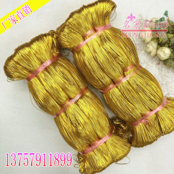 Christmas color flat hollow gold costume accessory line of gold thread
