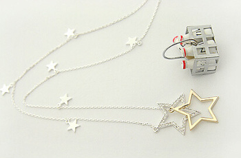 Stars in the sky long necklace sweater chain accessories