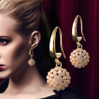 European and American Jewelry zircon inlaid earrings earrings earrings NEW LADIES temperament
