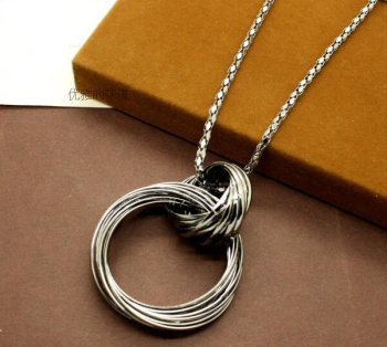 Bohemian circle of simple metal spring/summer sweater chain long necklace