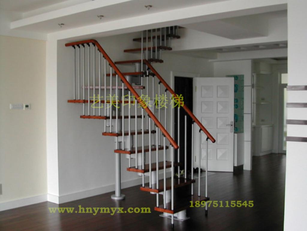 长沙艺美印象/别墅复式阁楼跃层楼梯护栏/简约钢木