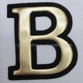 满天星标 金色标 熨斗烫贴 皮标 商标 字母标