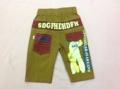 Children in 2015 printing dual-use casual cropped pants
