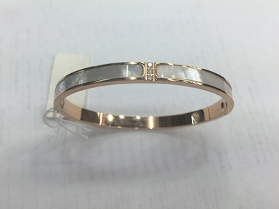 Stainless steel/titanium steel bracelet inlaid shell simple fashion rose gold bracelet bangles