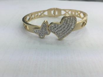 Foreign trade original stainless steel/titanium steel open heart bracelet gold fashion jewelry bracelet
