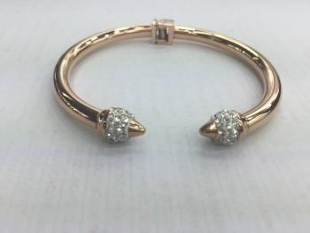 Fashion jewelry trade opening original inlaid diamond rose gold stainless steel/titanium steel bracelet