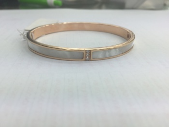 Stainless steel/titanium steel bracelet inlaid shell simple fashion rose gold bracelet bangles