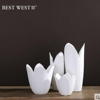 Modern ceramic vase of white living room size vases set of three porcelain vases flower pots