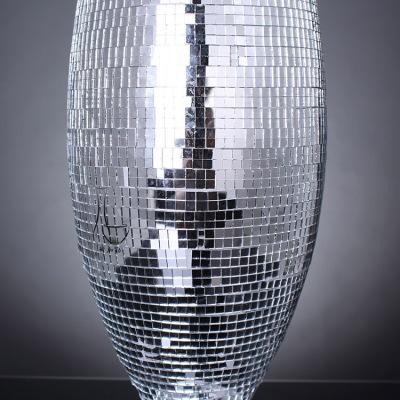 Exquisite craft design mirror modern mosaic glass vases home decoration