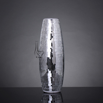 Modern fashion small mirror mosaic glass vase, fine craft home ornaments
