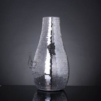 Modern small craft mirror mosaic glass vase home ornaments