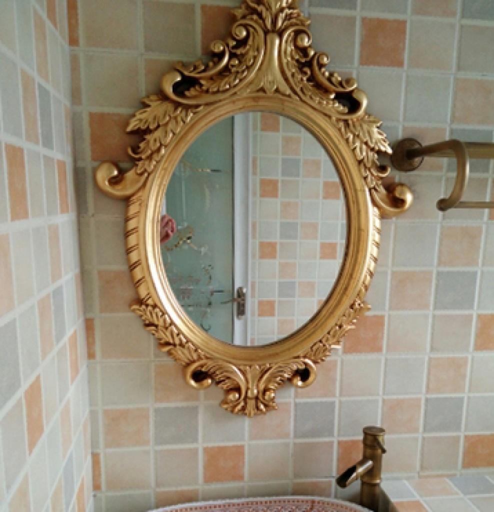 现代欧式高档壁挂浴室镜卫浴镜欧式镜子装饰镜 防水防潮