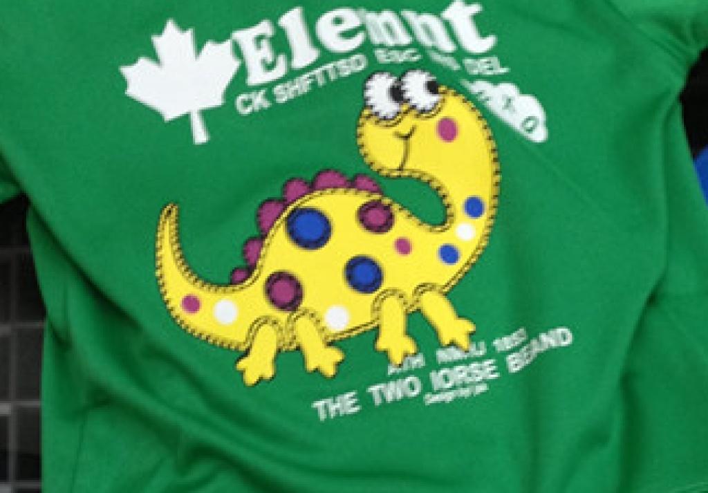 男童 绿色小恐龙