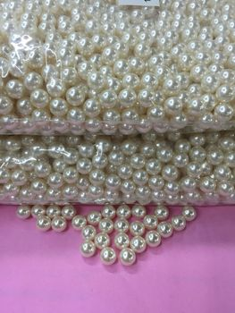 No hole pearls highlight 5mm clothing accessories earring necklace crafts decorative pearls