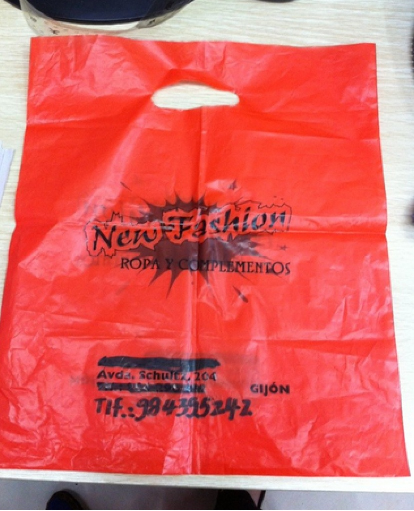 各类pe手提袋 塑料手拎袋 制版