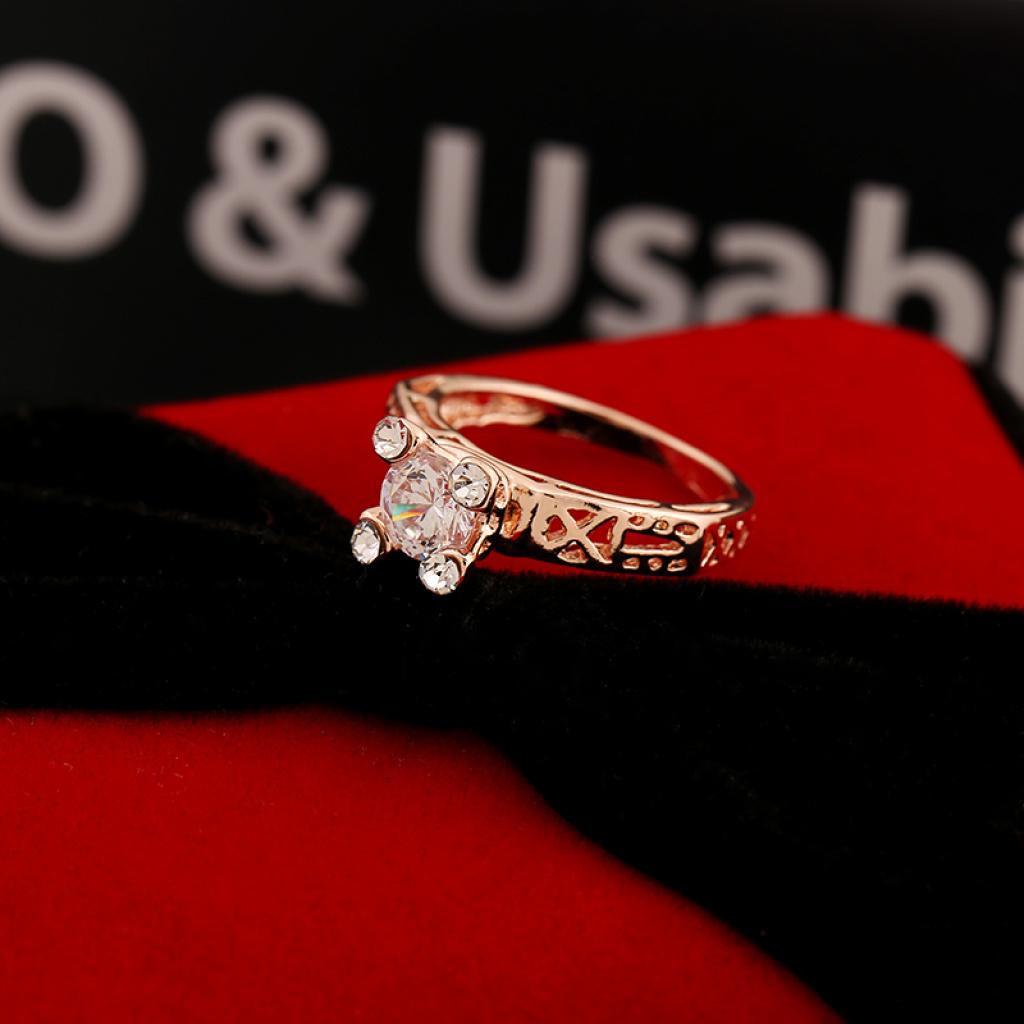 埃菲尔铁塔造型钻戒 时尚情侣戒指