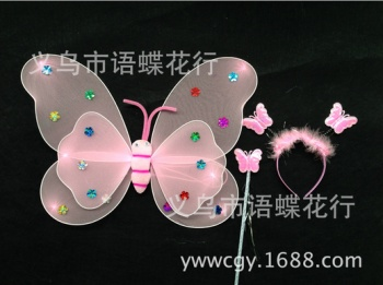 New three-piece holiday party wire butterfly wings Cosplay toys