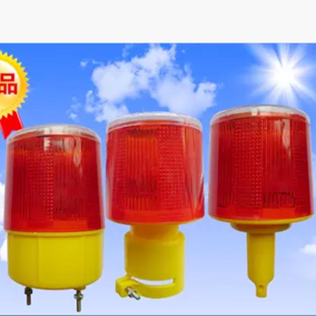 3led光控太阳能交通路障塔机频闪灯路锥警示灯